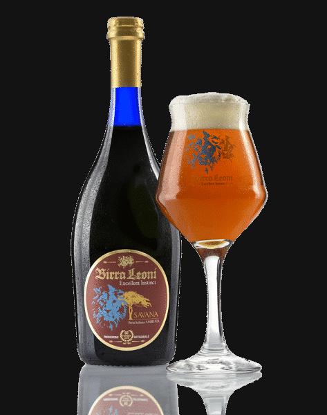 birra ambrata savana by birra leoni
